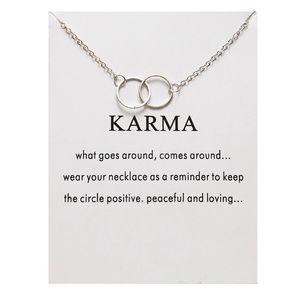 Jewelry - NEW!! ❣️ Karma Pendant Necklace